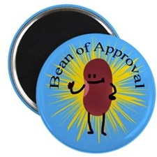 """Bob The Bean Approves 2.25"""" Magnet (10 pack)"""