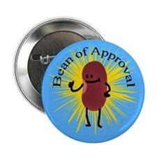 "Bob The Bean Approves 2.25"" Button (10 pack)"
