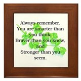 ALWAYS REMEMBER.. Framed Tile