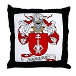 Rodriguez Family Crest Throw Pillow