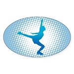 Figure Skating Oval Sticker