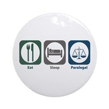 Eat Sleep Paralegal Ornament (Round)