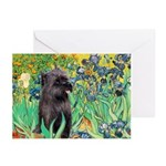 Irises / Cairn (#17) Greeting Cards (Pk of 10)