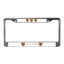 Quilt Heart License Plate Frame