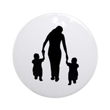 Mother and Children Ornament (Round)