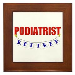 Retired Podiatrist Framed Tile