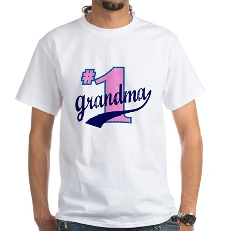#1 Grandma White T-Shirt