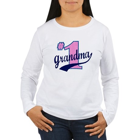 #1 Grandma Women's Long Sleeve T-Shirt