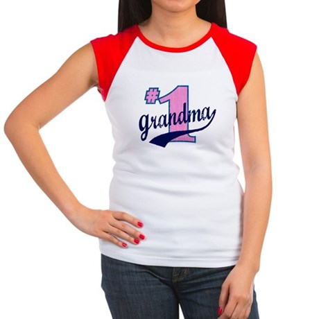 #1 Grandma Women's Cap Sleeve T-Shirt
