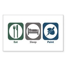 Eat Sleep Paint Rectangle Bumper Stickers