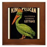 King Pelican Framed Tile