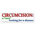 """Cure looking"" (wt) bumpersticker x10"