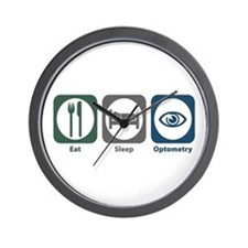 Eat Sleep Optometry Wall Clock