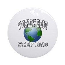 WORLD'S BEST STEP DAD Ornament (Round)