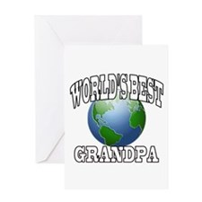 WORLD'S BEST GRANDPA Greeting Card