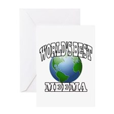 WORLD'S BEST MEEMA Greeting Card