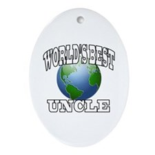 WORLD'S BEST UNCLE Oval Ornament