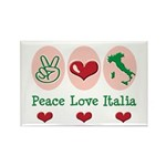 Peace Love Italia Italy Rectangle Magnet (10 pack)