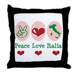 Peace Love Italia Italy Throw Pillow
