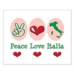 Peace Love Italia Italy Small Poster