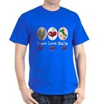 Peace Love Italia Italy Dark T-Shirt