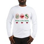 Peace Love Italia Italy Long Sleeve T-Shirt