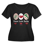 Peace Love Italia Italy Women's Plus Size Scoop Ne
