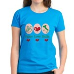 Peace Love Italia Italy Women's Dark T-Shirt
