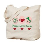 Peace Love Italia Italy Tote Bag