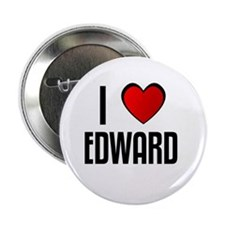 "I LOVE EDWARD 2.25"" Button (100 pack)"
