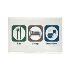 Eat Sleep Nutrition Rectangle Magnet (100 pack)