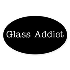 Glass Addict BLK - Oval Decal