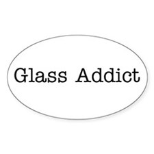Glass Addict White - Oval Decal