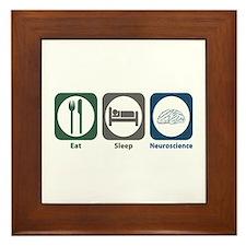 Eat Sleep Neuroscience Framed Tile
