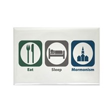 Eat Sleep Mormonism Rectangle Magnet