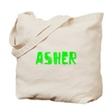 Asher Faded (Green) Tote Bag
