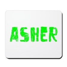 Asher Faded (Green) Mousepad
