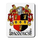 Broderick Coat of Arms Mousepad