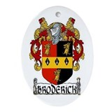 Broderick Coat of Arms Ornament (Oval)