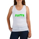 Ashtyn Faded (Green) Women's Tank Top