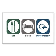 Eat Sleep Meteorology Rectangle Sticker 10 pk)