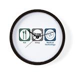 Eat Sleep Medical Technology Wall Clock