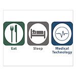 Eat Sleep Medical Technology Small Poster