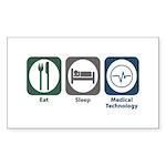 Eat Sleep Medical Technology Rectangle Sticker 50