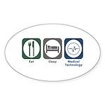 Eat Sleep Medical Technology Oval Sticker (50 pk)