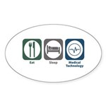 Eat Sleep Medical Technology Oval Sticker (10 pk)