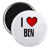 I LOVE BEN Magnet