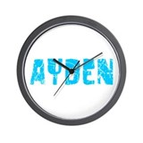 Ayden Faded (Blue) Wall Clock