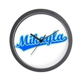 Retro Mikayla (Blue) Wall Clock