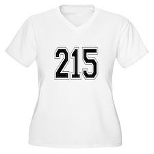 215 Womes Plus-Size V-Neck T-Shirt